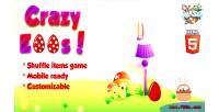 Eggs crazy game items shuffle