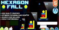 Fall hexagon game skill html5