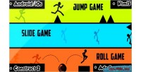 Fall jump roll html5 capx game