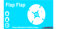 Flap flap simple & game html5 minimalist