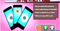 Flap jet html5 admob game mobile