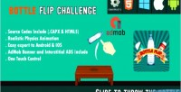 Flip bottle challenge html5 android game ios capx admob