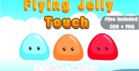 Flying jelly touch capx vector html5