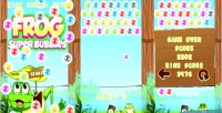 Frog super bubbles html5 capx game