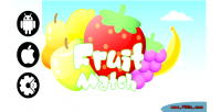 Fruit match html5 mobile game desktop and