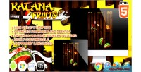Fruits katana html5 game
