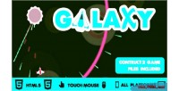 Galaxy wars circular shooter game construct2 html5