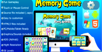 Game memory funny animals games educational html5 mobile and