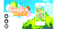 Garden match 3 html5 mobile & admob game desktop