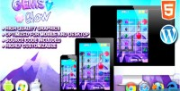 Glow gems game puzzle html5