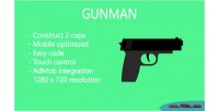 Gunman html 5 game construct 2 admob app mobile