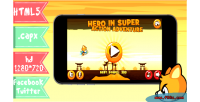 Hero in super action adventure html5 facebook twitter capx