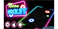 Hockey neon game multiplayer html5