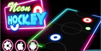 Hockey neon game multiplayer html5