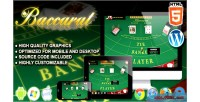 Html5 baccarat gambling game