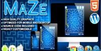 Html5 maze logic game