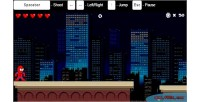 Html5 spiderman canvas game