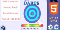 Html5 trezedarts skill game