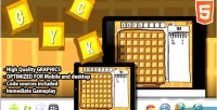 Html5 waffle word game