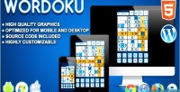 Html5 wordoku logic game