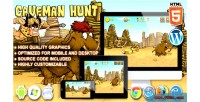 Hunt caveman game launch html5