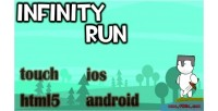 Infinity run html5 mobile capx game