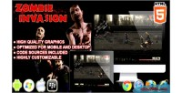 Invasion zombie game survival html5