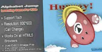 Jump alphabet html5 game