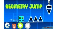 Jump geometry html5 mobile capx game