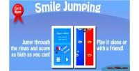 Jumping smile