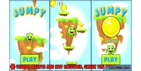 Jumpy endless jumper game kit with framework phaser