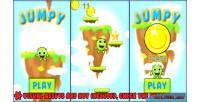 Jumpy endless jumper game kit with framework phaser