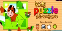 Kids puzzle adventure html5 game android ios
