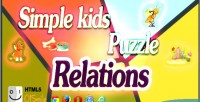 Kids simple puzzle relations