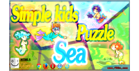 Kids simple puzzle sea