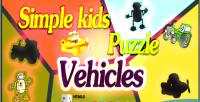 Kids simple puzzle vehicles