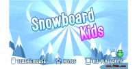 Kids snowboard game mobile html5