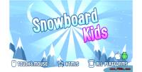 Kids snowboard game mobile html5