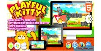Kitty playful game construct html5