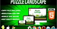 Landscape puzzle educacional game html5