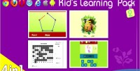 Language learning games collection in 4 1 language