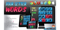 Letter four words game word html5