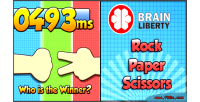 Liberty brain scissors paper rock