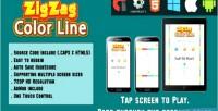 Line color zigzag html5 mobile game version html capx
