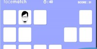 Match face memory game