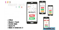 Math correct game puzzle html5