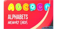 Memory alphabet cards game
