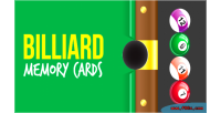 Memory billiard cards game