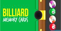 Memory billiard cards game