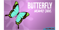 Memory butterfly cards game